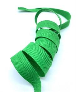 Тесьма киперная 15 мм хлопок 2,5г/см арт.TBY.FT15239 цв.F239 зеленый уп.10м