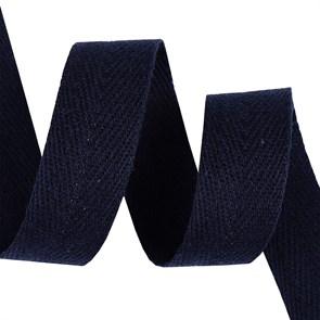 Тесьма киперная 20 мм хлопок 2,5 г/см арт.TBY.FT20058S цв.S058 т.синий уп.10м
