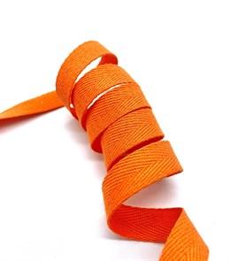 Тесьма киперная 20 мм хлопок 2,5 г/см арт.TBY.FT20157 цв.F157 оранжевый уп.10м