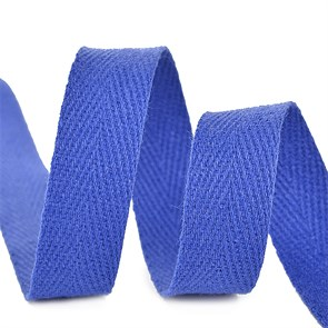 Тесьма киперная 10 мм хлопок 2,5г/см арт.TBY.FT10223 цв.F223 синий василек уп.10м