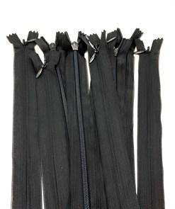 Молния MaxZipper пласт. потайная №3 20см н/р цв.F322 черный упак.10шт