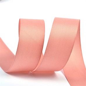 Лента Ideal репсовая в рубчик шир.25мм цв. 161 розовый уп.27,42м
