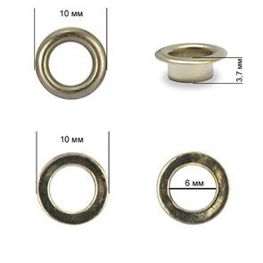 Люверсы сталь TBY.2140 №4 (d 6мм, h 3,7мм) цв. никель уп. 1000шт