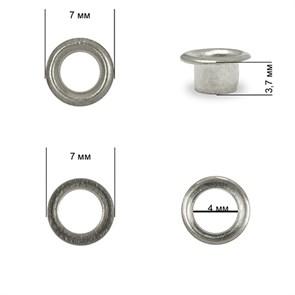 Люверсы сталь TBY.2510 №2 (d 4мм, h 3,7мм) цв. никель уп. 1000шт