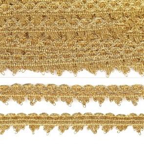 Тесьма отделочная арт.922 шир.20 мм цв.золото уп.11,88м