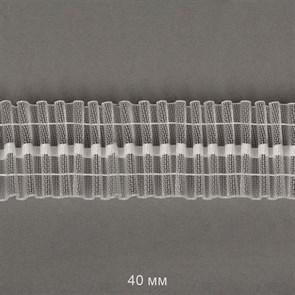 Лента шторная 40мм TBY сборка: универсальная арт.401-0 цв. прозрачный уп.10м