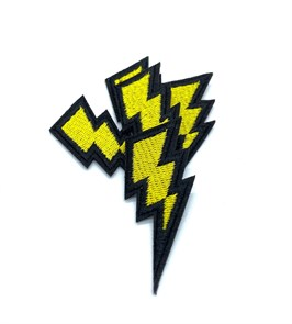 Термоаппликации арт.KT #4-52 Молния 28х60мм уп.5 шт