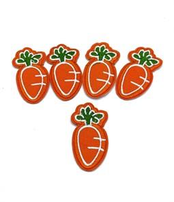 Термоаппликации арт.KT #4-110 Морковка 30х55мм уп.5 шт