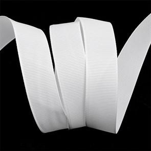 Лента Ideal репсовая в рубчик шир.25мм цв. 029 белый уп.27,42м