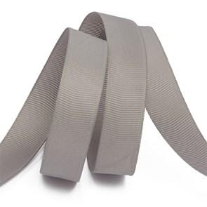 Лента Ideal репсовая в рубчик шир.25мм цв. 012 (096) серый уп.27,42м