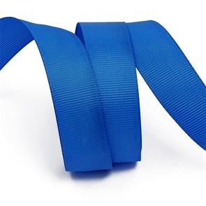 Лента Ideal репсовая в рубчик шир.25мм цв. 366 (170) ярк.синий уп.27,42м