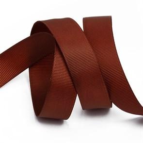 Лента Ideal репсовая в рубчик шир.25мм цв. 868 (143) холод.коричневый уп.27,42м