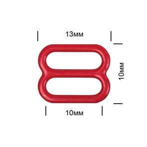 Пряжка регулятор для бюстгальтера металл TBY-57758 10мм цв.SD163 красный, уп.100шт
