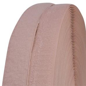 Лента липучка TBY пришивная кач.B шир.25мм цв.F152 грязно-розовый уп.25м (пара)