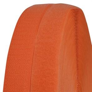 Лента липучка TBY пришивная кач.B шир.25мм цв.F157 т.оранжевый уп.25м (пара)