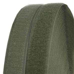 Лента липучка TBY пришивная кач.B шир.25мм цв.F263 хаки уп.25м (пара)