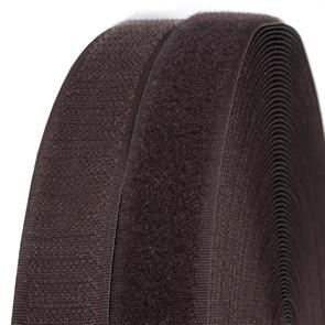 Лента липучка TBY пришивная кач.B шир.25мм цв.F304 коричневый уп.25м (пара)