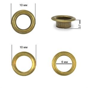 Люверсы сталь TBY.2140 №4 (d 6мм, h 3,7мм) цв. антик уп. 1000шт