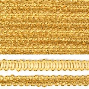 Тесьма TBY Шанель плетеная шир.12мм 0384-0016 цв.золото уп.18,28м