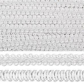 Тесьма TBY Шанель плетеная шир.12мм 0384-0016 цв.F101 белый уп.18,28м