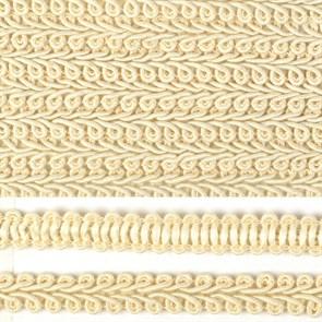 Тесьма TBY Шанель плетеная шир.12мм 0384-0016 цв.F102 молочный уп.18,28м