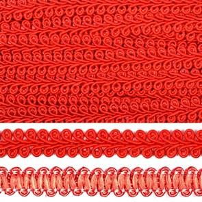 Тесьма TBY Шанель плетеная шир.12мм 0384-0016 цв.F162 (26) красный уп.18,28м