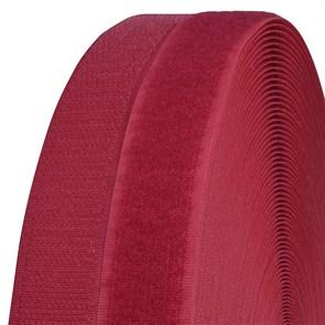 Лента липучка TBY пришивная кач.B шир.25мм цв.F148 красный уп.25м (пара)