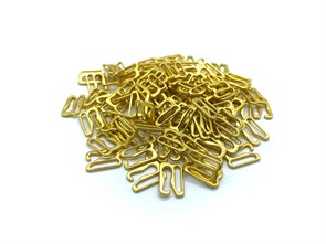 Крючок для бюстгальтера металл d10мм арт.KRDB-10 цв.золото уп.100шт (+-5шт)