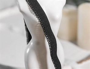 Резинка бельевая (ажурная) арт.RBK-20B шир.10мм цв.черный уп.25м