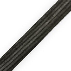 Тесьма вязаная окантовочная 32мм,арт.32С-32/32 цв.черный плотность3.2г/м