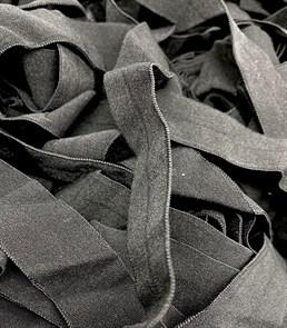 Резинка бельевая (окантовочная матовая) арт.KBM-15B шир.15мм цв.черный уп.25м