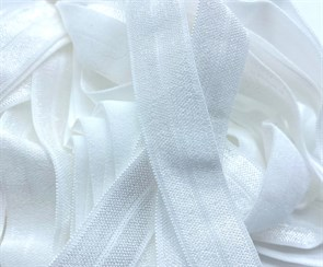 Резинка бельевая (окантовочная блестящая) арт.KBB-15W шир.15мм цв.белый  уп.25м
