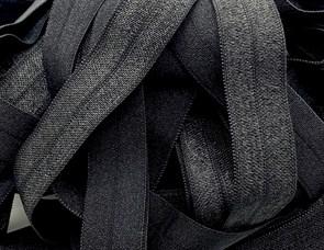 Резинка бельевая (окантовочная блестящая) арт.KBB-15B шир.15мм цв.черный уп.25м