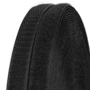 """Лента """"липучка"""" TBY пришивная кач.С шир.16мм цв.F322 (310) черный уп.25м (пара)"""