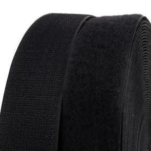 """Лента """"липучка"""" TBY пришивная кач.С шир.50мм цв.F322 (310) черный уп.25м (пара)"""