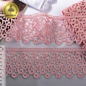 Кружево гипюр KRUZHEVO арт.TR.8G8386 шир.80мм цв.09 розовая пудра уп.9м