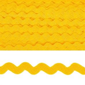 "Тесьма декоративная ""Вьюнчик"" арт.TBY.64312 шир.5мм цв.F110 желтый уп.32,92м"