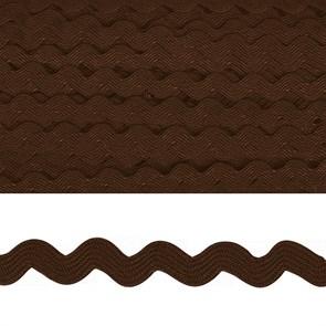 "Тесьма декоративная ""Вьюнчик"" арт.TBY.64312 шир.5мм цв.F304 коричневый уп.32,92м"