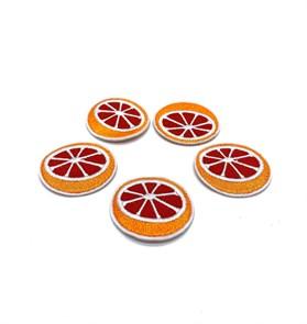 Термоаппликации арт.KT #4-49 Апельсин 40х37мм уп.5 шт