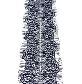 """Кружево """"реснички"""" арт.KRK-60014 шир.100мм цв.черный (2 шт по 3 м)"""