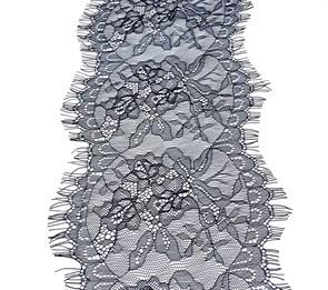 """Кружево """"реснички"""" арт.KRK-73301 шир.180мм цв.черный (2 шт по 3 м)"""