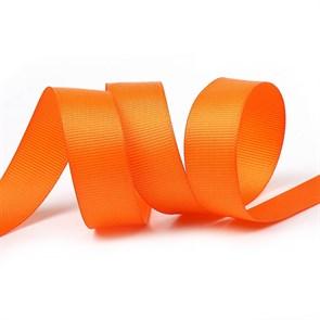 Лента Ideal репсовая в рубчик шир.20мм цв. 751 ярк.оранжевый уп.27,45м
