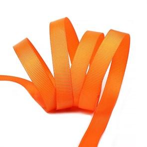 Лента Ideal репсовая в рубчик шир.12мм цв. 751 ярк.оранжевый уп.27,42м