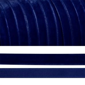 Лента бархатная арт.TBY.LB0652 нейлон шир.06мм цв.т.синий уп.30м