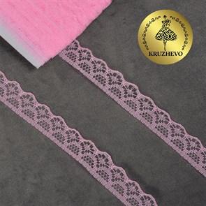 Кружево-трикотаж KRUZHEVO арт.TBY 150-2 шир.12мм цв.12 розовый уп.27,4м