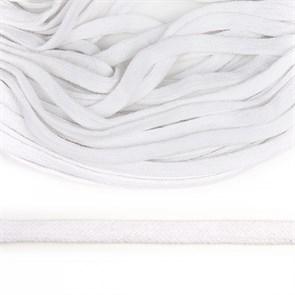 Шнур плоский х/б 10мм арт.TBY.58241 цв.белый уп.50м