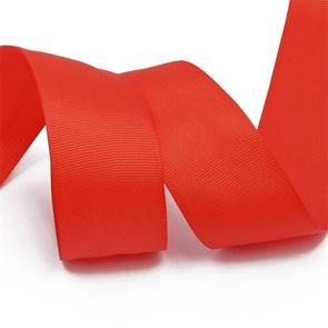Лента Ideal репсовая в рубчик шир.38мм цв. 235 класс.красный уп.27,42м