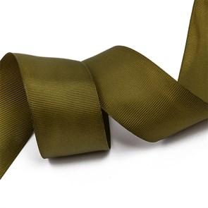 Лента Ideal репсовая в рубчик шир.38мм цв. 569 хаки уп.27,42м