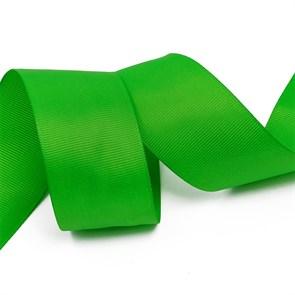 Лента Ideal репсовая в рубчик шир.38мм цв. 579 ярк.зеленый уп.27,42м
