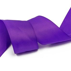 Лента Ideal репсовая в рубчик шир.38мм цв. 465 тепл.фиолетовый уп.27,42м